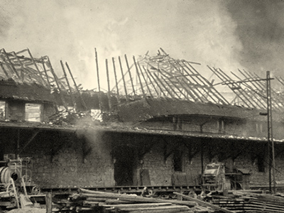 1926/1943: Twice burned down, then courageously rebuilt